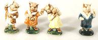 PORCELAIN PIGS WITH CAMERAS SET OF 3 + 1 WITHOUT CAMERA
